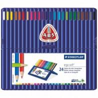 STAEDTLER Farbstift ergosoft 157 SB24 24 Farben in Kunststoff-Box