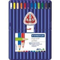 STAEDTLER Farbstift ergosoft JUMBO 158SB12 12 Farben in Kunsstoff-Box