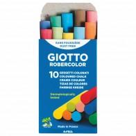 GIOTTO / LYRA Tafelkreide rund 10mm farbig bunt 10 Stück, Länge 80mm