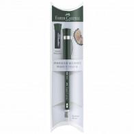 FABER CASTELL Perfekter Bleistift B mit Spitzer und Radiergummi