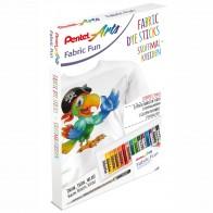 PENTEL Stoffmalkreide BTS-15 PROMO-Set 5 Farben + 1 Textilstift GRATIS