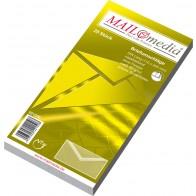 MAILMEDIA Briefumschlag DL ohne Fenster naßklebend weiß 25 Stück mit Seidenfutter