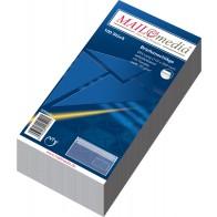 MAILMEDIA Briefumschlag DL mit Fenster selbstklebend weiß 100 Stück