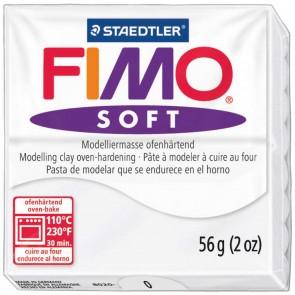 STAEDTLER Modelliermasse Fimo soft 57g 8020-0 weiß