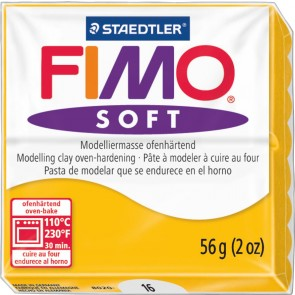 STAEDTLER Modelliermasse Fimo soft 57g 8020-16 sonnengelb