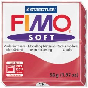 STAEDTLER Modelliermasse Fimo soft 57g 8020-26 kirschrot