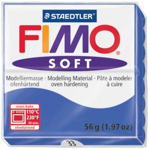 STAEDTLER Modelliermasse Fimo soft 57g 8020-33 brillantblau