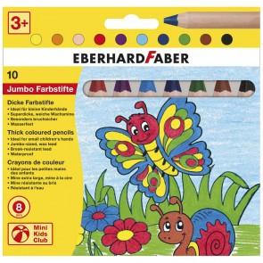 EBERHARD FABER Jumbo Buntstifte natur Mini Kids Club 10 Farben