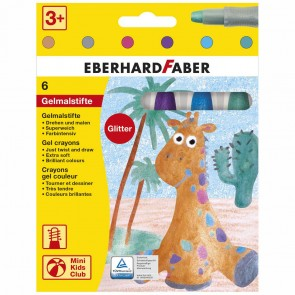 EBERHARD FABER Gelmalstifte Glitter / Metallic 6 Farben im Kartonetui