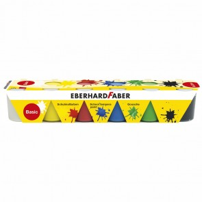 EBERHARD FABER Schulmalfarben 6 x 25ml Set basic Grundfarben
