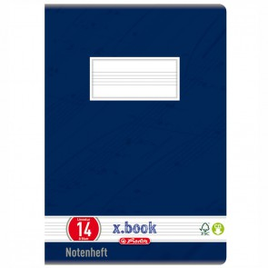 HERLITZ Notenheft A5 8 Blatt LIN 14 Notenlineatur