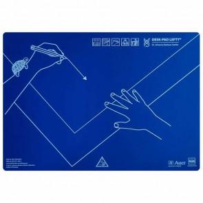 KUM / AUER VERLAG Schreibunterlage LEFTY für Linkshänder 43x50cm blau