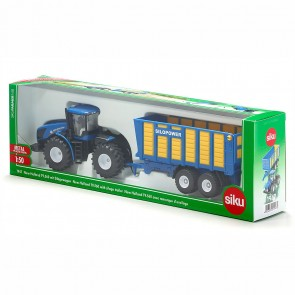 SIKU 1947 Traktor mit Silagewagen 1:50