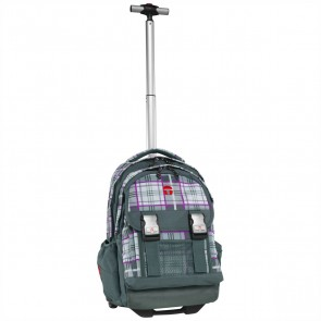 TAKE IT EASY Schulrucksack Trolley Madrid KILT grau / lila
