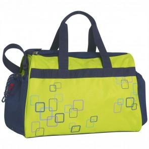 TAKE IT EASY Sporttasche Wien CUBE grün/dunkelblau