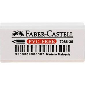 FABER CASTELL Radiergummi PVC-FREE weiß 7086-30