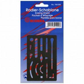 ECOBRA Radierschablone 760200 aus Edelstahl