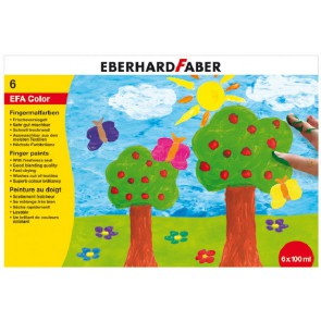 EBERHARD FABER Fingerfarben 6 x 100ml